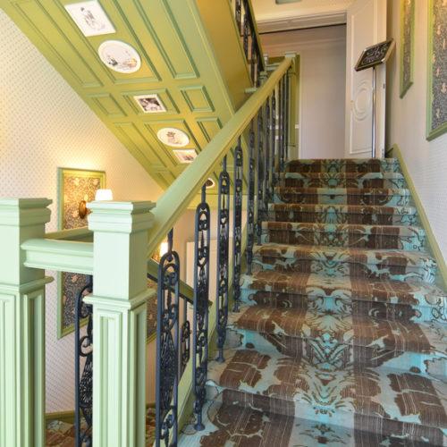 Коммерческое ковровое покрытие для лестницы, гостиницы