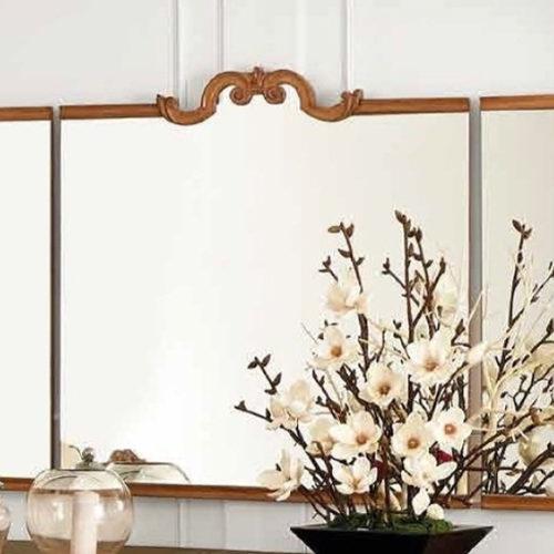 фото Зеркало трехстворчатое. Массив вишни. Коллекция Barocco, Португалия