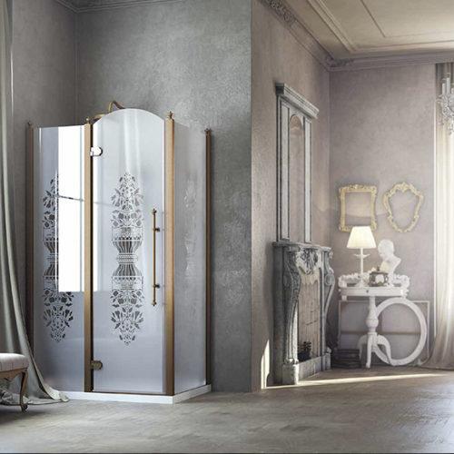 Фото Душевая кабина в классическом стиле. Закаленное стекло с рисунком. Коллекция Principe, Италия