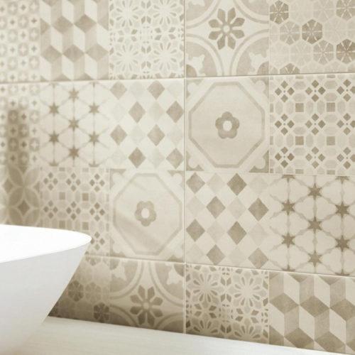 Фото Плитка керамічна для стін в стилі печворк. Колекція Rockland, Іспанія