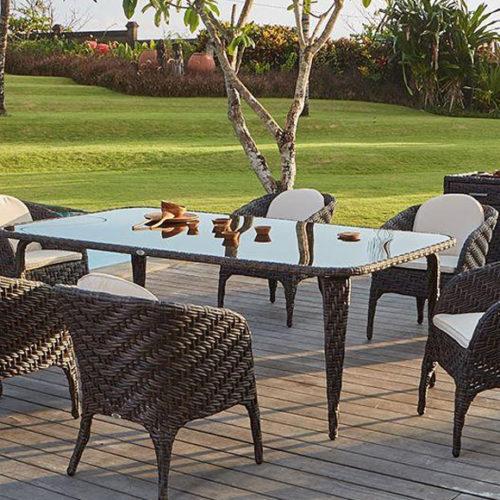 фото Комплект меблів для тераси. Крісла, стіл, комод. Техноротанг, алюмінієвий каркас. Колекція Celeste, Іспания
