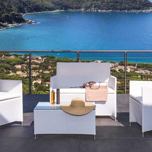 фотоМеблі для балкона або тераси. Техноротанг, алюмінієвий каркас. Колекція Easy, Іспанія