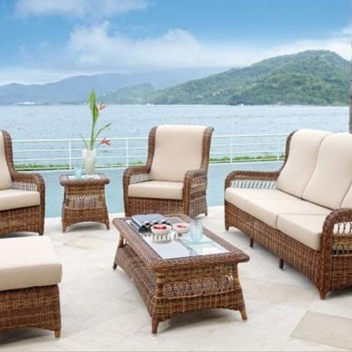 фото Комплект меблів для балкона. Диван, крісла, кавовий столик. Техноротанг. Колекція Ebony, Іспанія