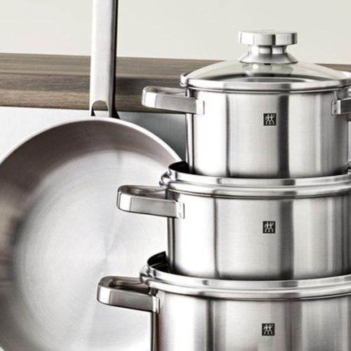 Набір кухонного посуду з 3 предметів. Нержавіюча сталь Колекція Zwilling Joy, Німеччина.