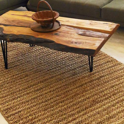 фото Ковер плетеный из джута и сизаля. Ручная работа. Коллекция Flatweave Choti, Турция