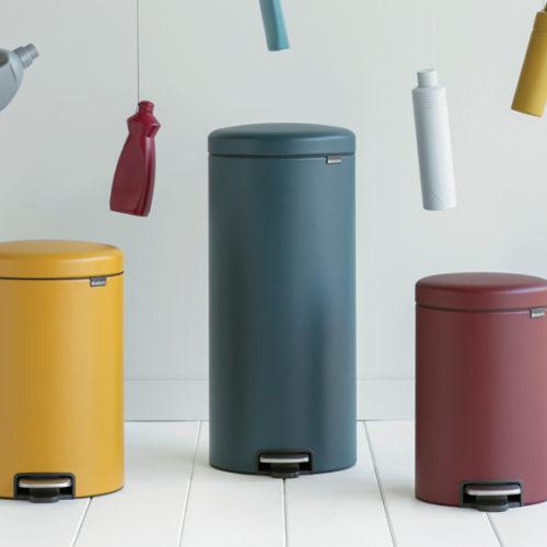 Ведро для мусора с педалью, съемным контейнером и крышкой. Brabantia, Бельгия
