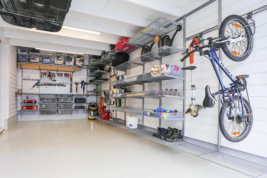 фото Система зберігання для гаража або підсобного приміщення. Металеві констукции. Гарантія 10 років. Elfa, Швеція