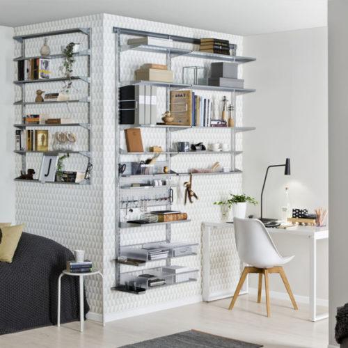 фото Система хранения для кабинета или офиса. Металлическая конструкция. простой монтаж. Гарантия 10 лет. Elfa, Швеция