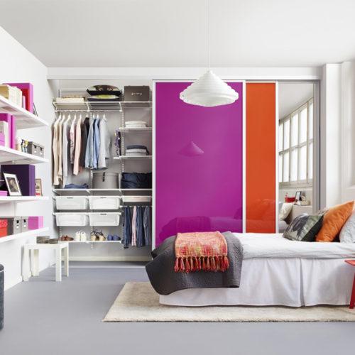 фото Гардеробная система для шкафа-купе в спальню. Металлическая конструкция. Гарантия 10 лет. Elfa, Швеция