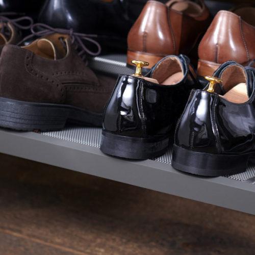 фото Система хранения для обуви. Металлическая конструкция. Гарантия 10 лет. ELfa, Швеция