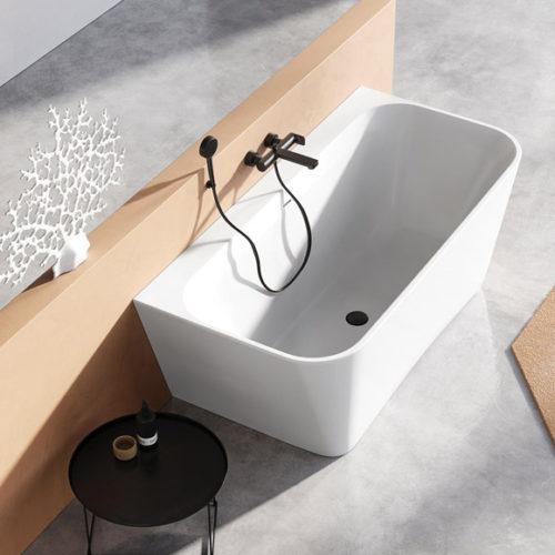 Ванна из каменной массы XONYX. Идеальная матовая поверхность. Коллекция Como Wall, Эстония