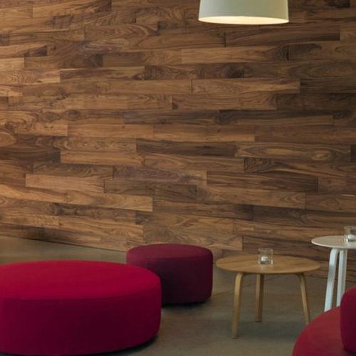 Панели на стену дизайнерские, деревянные. Рельефные, структурированные, покрытие маслом. Коллекция Patagonia Американский Орех, Германия