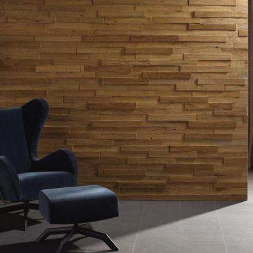 Панели деревянные, дизайнерские на стену. Рельефные, структурированные, покрытие маслом. Коллекция Nevada Дуб Ривер, Германия