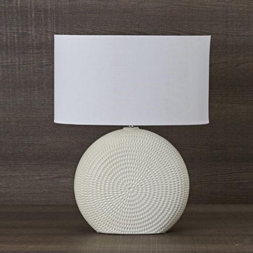 Лампа настольная. Высота 60 см. Фарфор, ткань. Коллекция Fusion, Италия