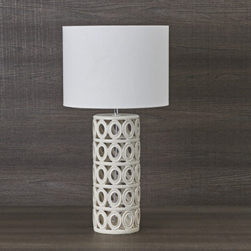Лампа настольная. Высота 67 см. Фарфор, ткань. Коллекция Sculpture, Италия