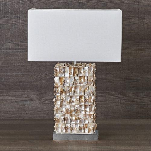 Лампа настольная. Высота 58 см. Фарфор, ткань. Коллекция Texture, Италия