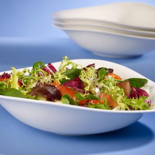 Тарелки, блюда, салатники из коллекции Vapiano. Костяной фарфор белого цвета. Villeroy&Boch, Германи