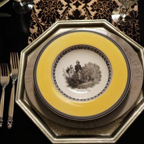 Фарфор премиум класса. Ассортимент включает столовый и чайный сервизы, тарелки, пиалы, блюда, салатники. Коллекция Audun. Villeroy&Boch, Германия