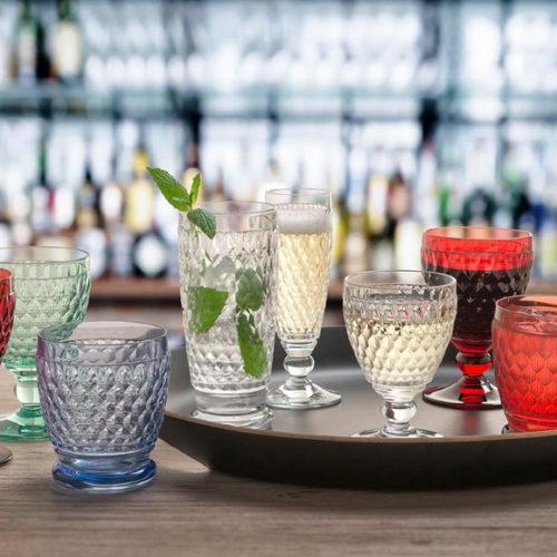 Келихи для вина, шампанського, води. Кольорове скло. Колекція Boston. Villeroy&Boch, Німеччина