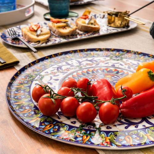 Блюдо для сервировки стола. Диаметр 36 см. Фарфор. Коллекция Trinacria, Италия