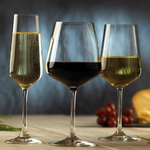 Келихи для білого, червоного вина і шампанського. Кришталь. Колекція Ovid. Villeroy&Boch, Німеччина