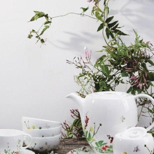 Сервиз из костяного фарфора Rosenthal Brillance с россыпью луговых трав и цветов, Германия. Скидка -40% АКЦИЯ