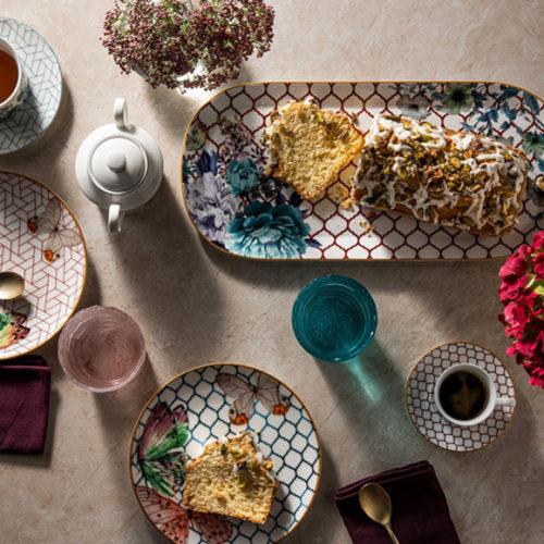 Блюда и тарелки для сервировки стола. Фарфор. Коллекция Symphony Henriette, Италия