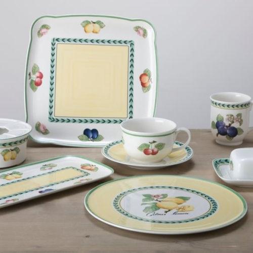 Фарфор премиум класса. Ассортимент включает столовый, чайный сервизы, блюда, тарелки, салатники. Коллекция French Garden Villeroy&Boch, Германия