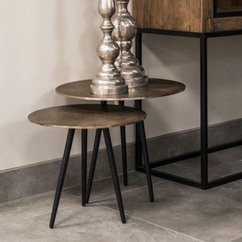 фото Столик кавовий. Стільниця з ефектом 3D. Метал. Комплект з 3 штук. Колекція Vittorio, Голландія