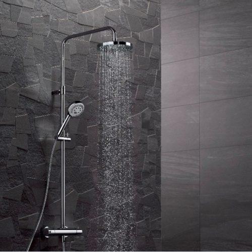 Фото Душевая система. Верхний душ и ручная лейка. Держатель для душа и душевая стойка. Logo, Германия