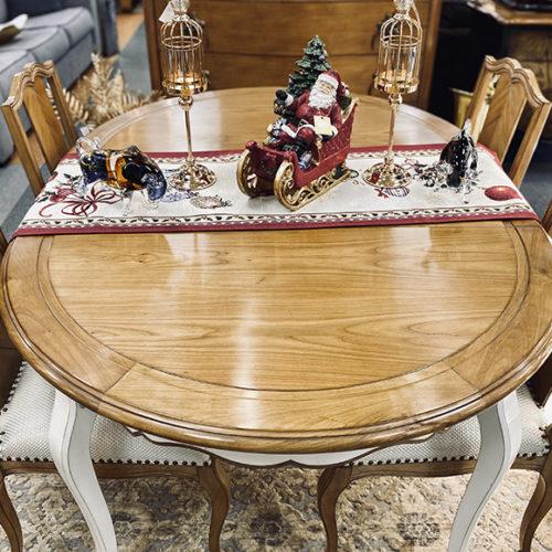 фото Стіл овальний, розкладний і стільці в класичному стилі. Масив вишні. Колекція Gala, Португалії