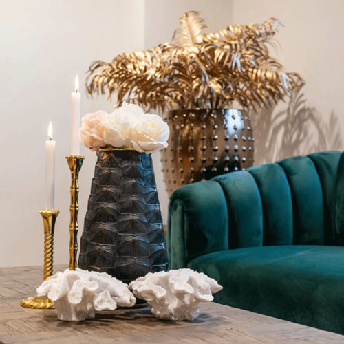 Ваза. Поливолокно, декор под панцирь черепахи. Коллекция Rich, Голландия