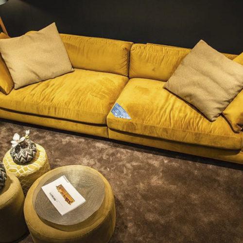 фото Диван глубокий, лаунжевый. Съемные чехлы для подушек. Коллекция Infinity, Швеция