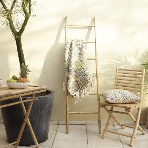 Сходи декоративні. Бамбук, метал. Висота 170 см. Колекція LADDER, Бельгія
