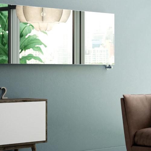 Фото Радиатор дизайнерский в виде зеркала. Сталь, стекло. Коллекция FRAME INIX, Италия