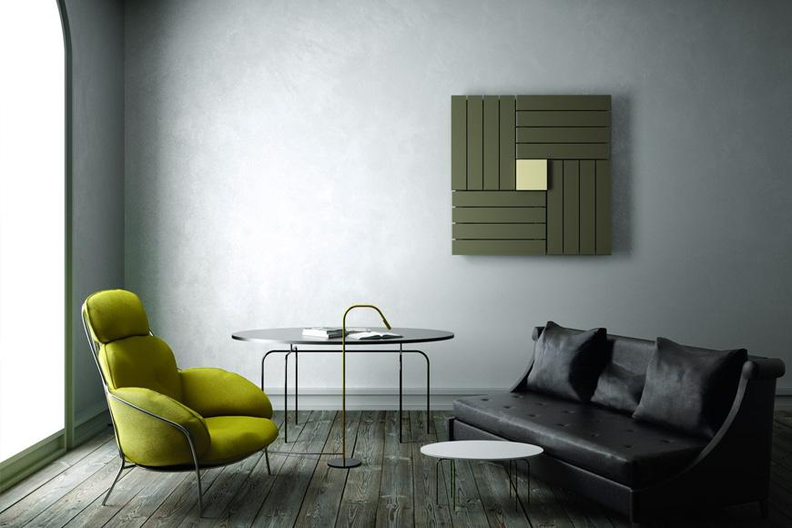 Фото Радиатор дизайнерский в современном стиле. Сталь. Коллекция SQUARE, Италия