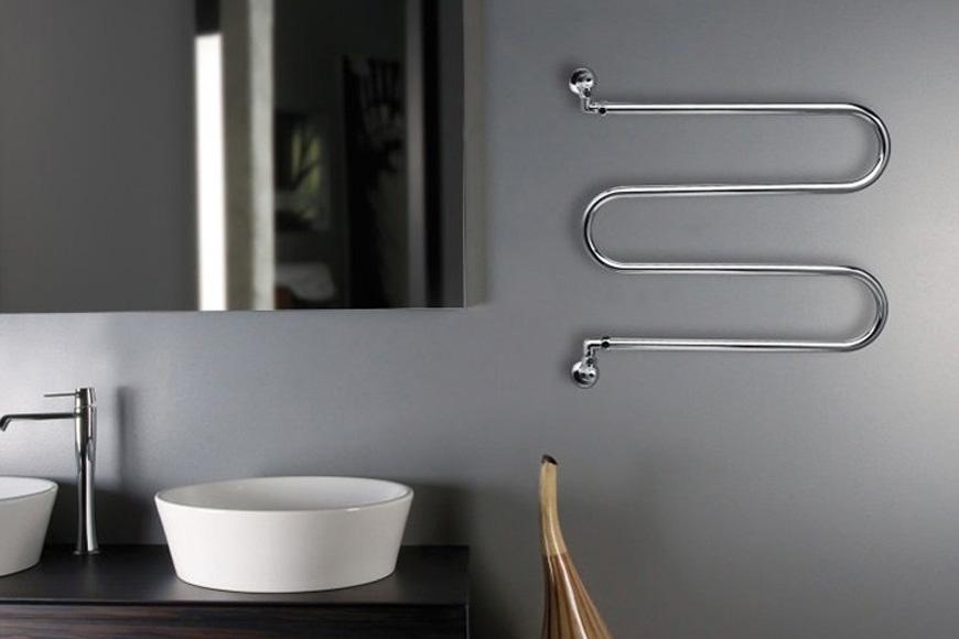 Фото Полотенцесушитель водяной в ванную комнату. Сталь. Коллекция Vento, Италия