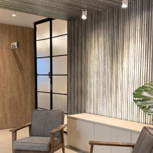 Панели дизайнерские на стену. МДФ, цвет серый матовый. Коллекция Pebble Gray Matte, Турция