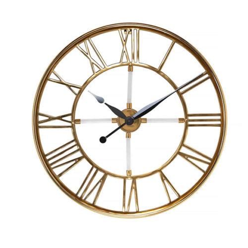 Годинник настінний. Метал з декором зі скла. Діаметр 60см. Колекція Jallina, Голландія