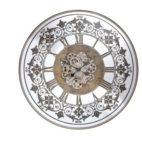 Годинник настінний. Метал, скло. Відкритий внутрішній механізм. Діаметр 82 см. Колекція Quеen, Голландія