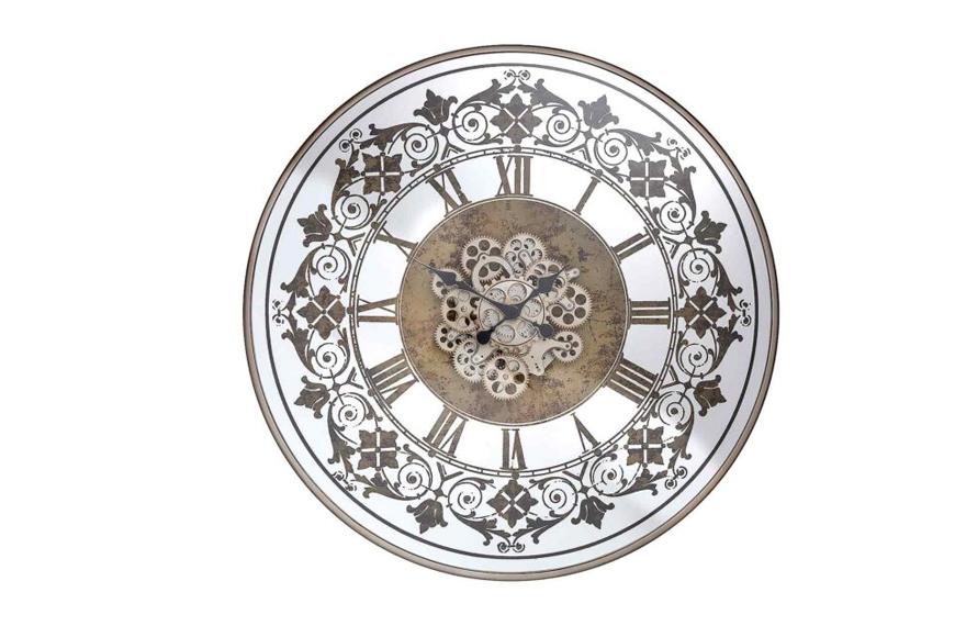 Фото Часы настенные. Металл, стекло. Открытый внутренний механизм. Диаметр 82 см. Коллекция Quеen, Голландия