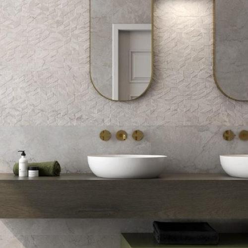 Фото Плитка керамическая в классическом стиле. Коллекция Symi Rlv Marfil, Испания