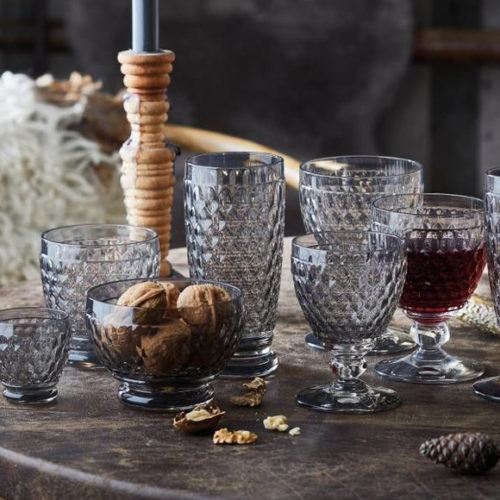Бокал для воды, вина, шампанского. Цветное стекло серого цвета. Коллекция Boston. Villeroy&Boch, Германия
