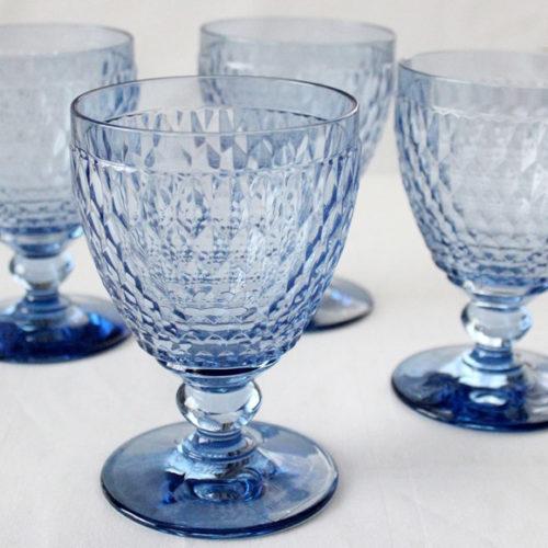 Бокал для воды, вина, шампанского. Цветное стекло голубого цвета. Коллекция Boston. Villeroy&Boch, Германия