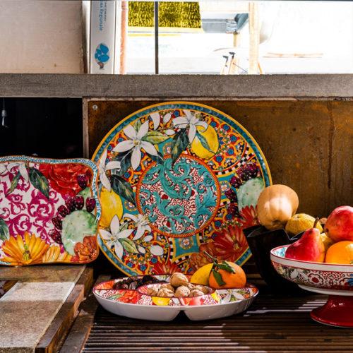 фото Коллекция столовой посуды. Блюда для сервировки стола. Итальянский фарфор. Коллекция Taormina Henriette, Италия