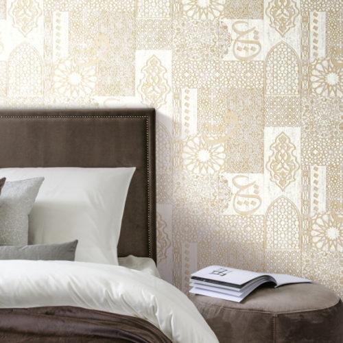 Обои флизелиновые пастельного тона для спальни. Коллекция 1001 Nights, Бельгия
