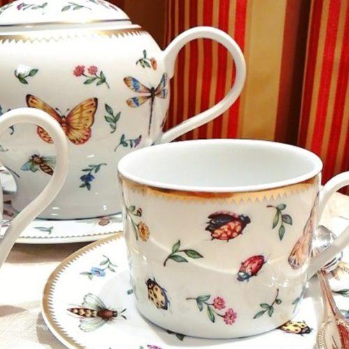 Набір для кави. 2 кавові чашки і 2 блюдця. Фарфор. Колекція Sketch Henriette, Італія
