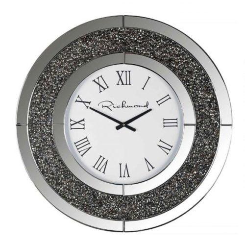 Годинники настінні круглі в класичному стилі з римськими цифрами. Метал, скло, акрил. Колекція Chasin, Голландія