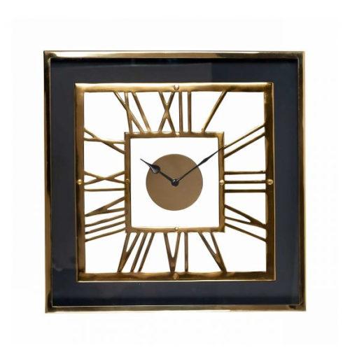 Годинники настінні квадратні з римськими цифрами в класичному стилі. Метал, алюміній, акрил. Колекція Trayson, Голландія
