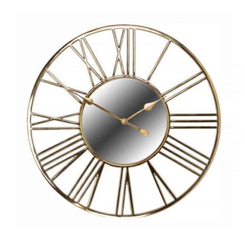 Годинники настінні дизайнерські з римськими цифрами. Діаметр 92см. Метал, дзеркальне скло. Колекція Willson, Голландія